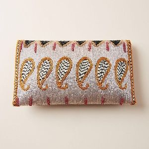 Anthropologie Bags - NWT Anthropologie Paisley Beaded Clutch
